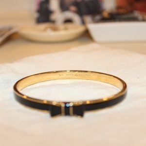Kate Spade Gold/Black Bow Bangle